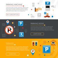 parkeerbanners instellen vector