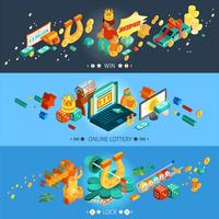 Lottery Banners Set vector