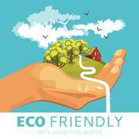 Besparing van milieu-poster