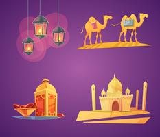 Ramadan Cartoon pictogrammen