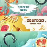 Zeevruchten Menu Banners vector