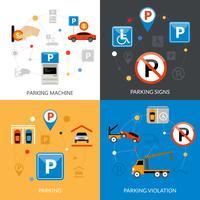 Parkeren Icons Set vector