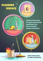 Infographic set reinigen vector