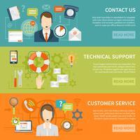 Neem contact op met onze klantenservice Banners vector