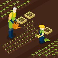 Gepensioneerden Farmers Life Isometric Banner Isomentric