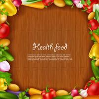 Plantaardige gezondheid van voedsel achtergrond vector