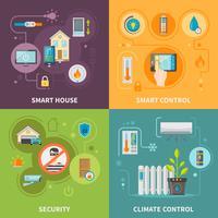 Systemen van controle in Smart House vector