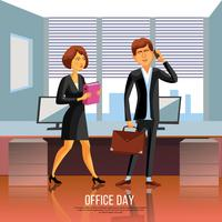 Office Mensen Poster vector