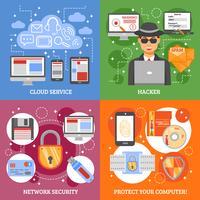 netwerkbeveiliging 2x2 ontwerpconcept