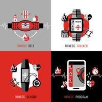 Fitness Tracker 2x2 ontwerpconcept
