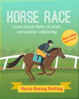 Paardenrennen Poster vector