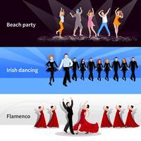 Dansende mensenbanners vector