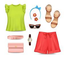 Dameskleding accessoires set