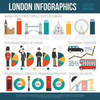 Londen cultuur Flat Infographic Poster