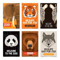 Dieren Mini Posters Set vector