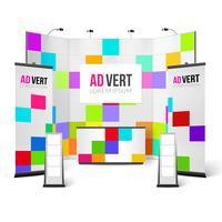 Tentoonstelling Stand Bright Design vector