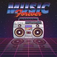 Muziek voor altijd Poster vector