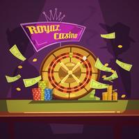 Casino Retro Cartoon Illustratie
