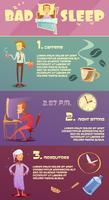 slaap man infographic vector