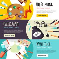Art and Craft Lessen Banners vector
