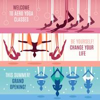 Aero Yoga horizontale banner set