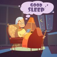 Goede slaapillustratie vector