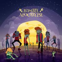 Zombie apocalyps achtergrond vector