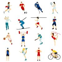 Mensen Sport Icon Set vector