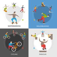 Extreem Stedelijk Sporten Vierkant Concept vector