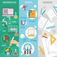 wetenschap 3 platte banner set