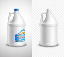 Productpakket ontwerp banners vector