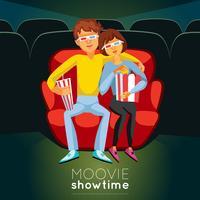 Cinema tijd illustratie