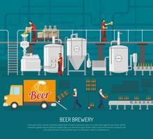 Brouwerij en bier illustratie