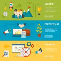Ondernemerschap horizontale banners vector