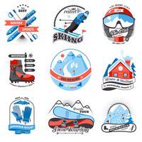 Emblemen van skiresorts instellen