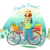 Tijd om illustratie te reizen vector