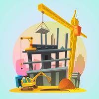 Huis bouw cartoon