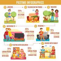 Tijdverdrijf Infographics Diagram vector