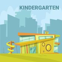 Kleuterschool Cartoon achtergrond vector