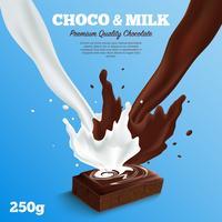 Melkchocolachtergrond vector