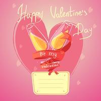 Valentine dag retro cartoon