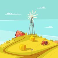 Landbouw en landbouw achtergrond vector