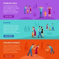 Mensen met familieproblemen Banners vector