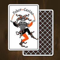 Jokerkaarten Realistische Illustratie vector