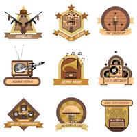 Retro emblemen instellen