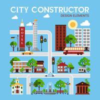 stadsbouwer ontwerpelementen vector