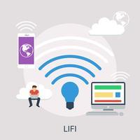 LIFI Conceptuele afbeelding ontwerp vector