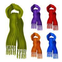 Gebreide sjaal kleurenset