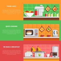 Huishoudelijke apparaten Banners Set vector