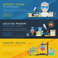 Tree Chemistry Horizontal Banners vector